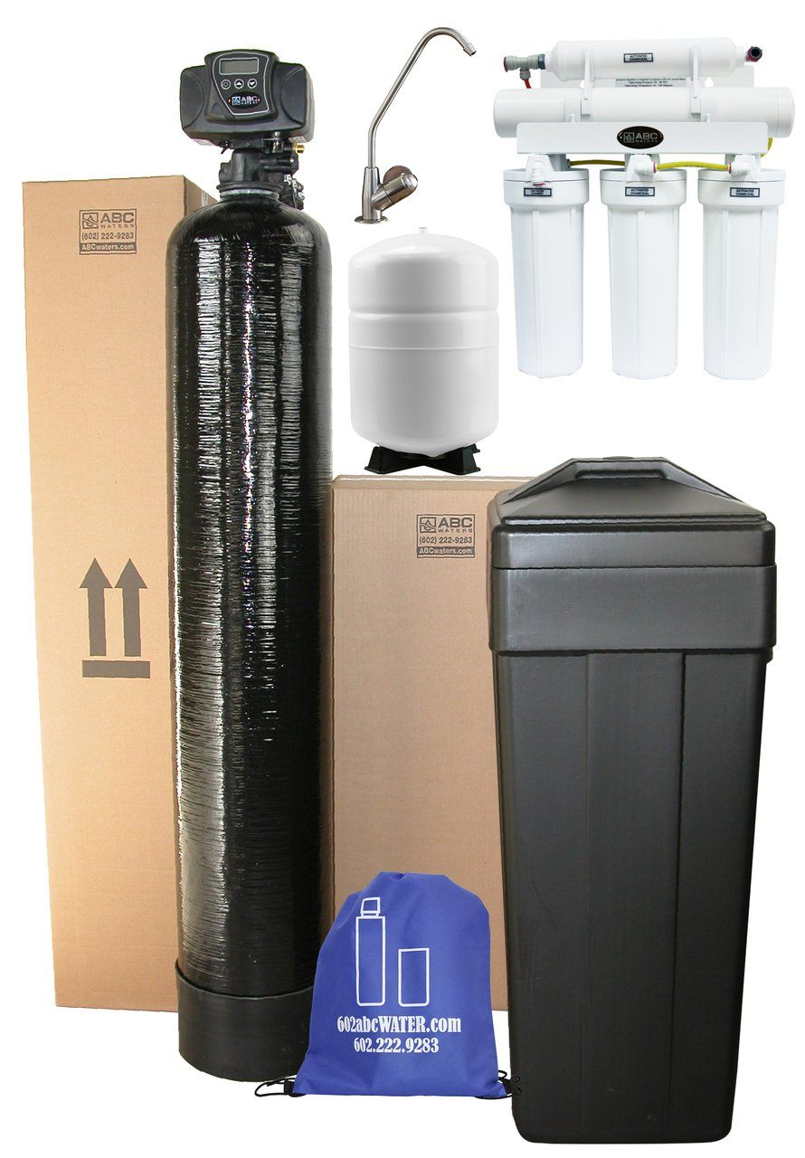 Abcwaters Built Fleck 5600sxt Whole House Water Softener With 5 Stage High Efficiency Ro Water Softener System Water Softener Water Filters System