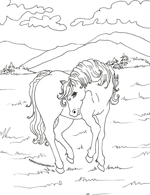 Pin by Wanda Twellman on Coloring Horses | Pinterest | Whimsical ...