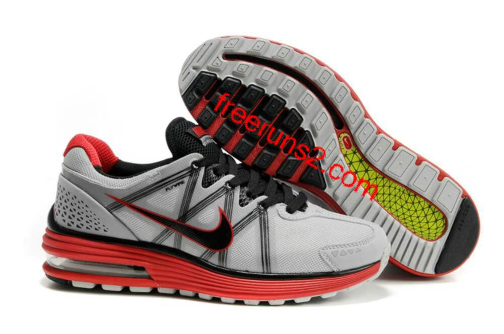 Nike Red Gray Lunarmax Shoes