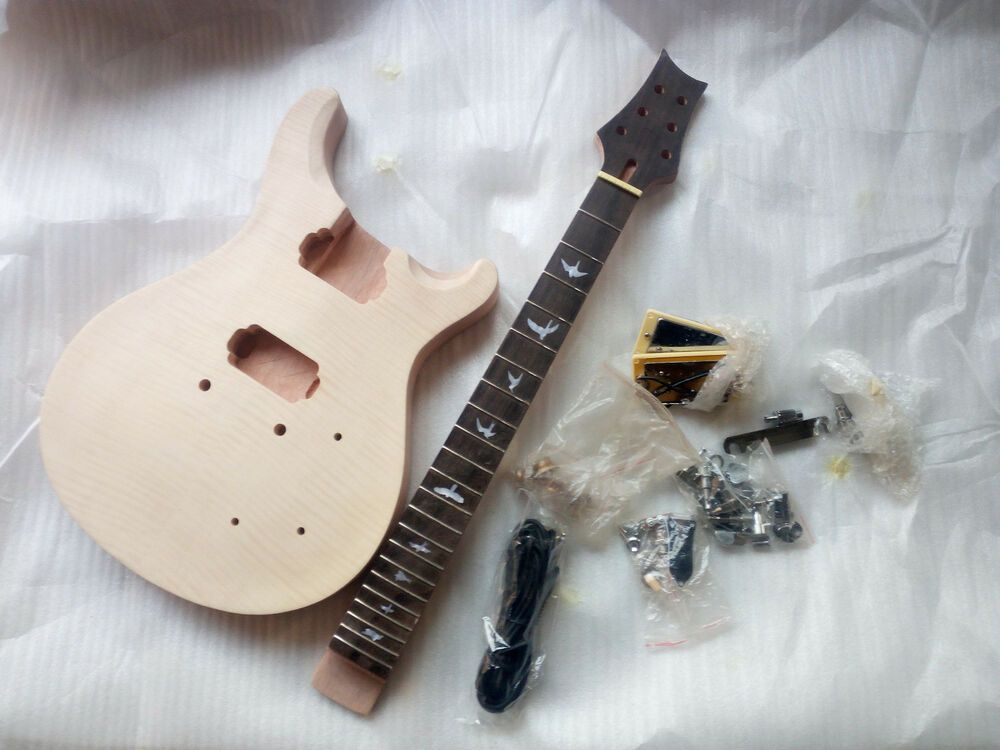 Diy prs guitars mahogany body unfinished electric guitar