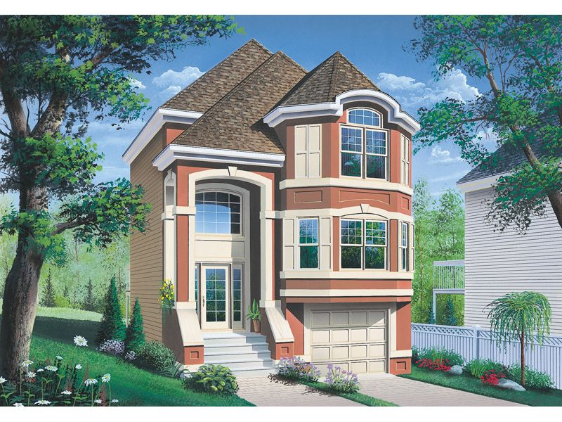House Plan 032d 0619 House Plans And More Victorian House Plans Narrow Lot House Garage House Plans
