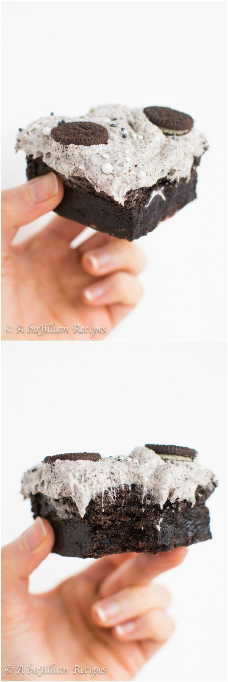Triple Oreo Brownies - A baJillian Recipes