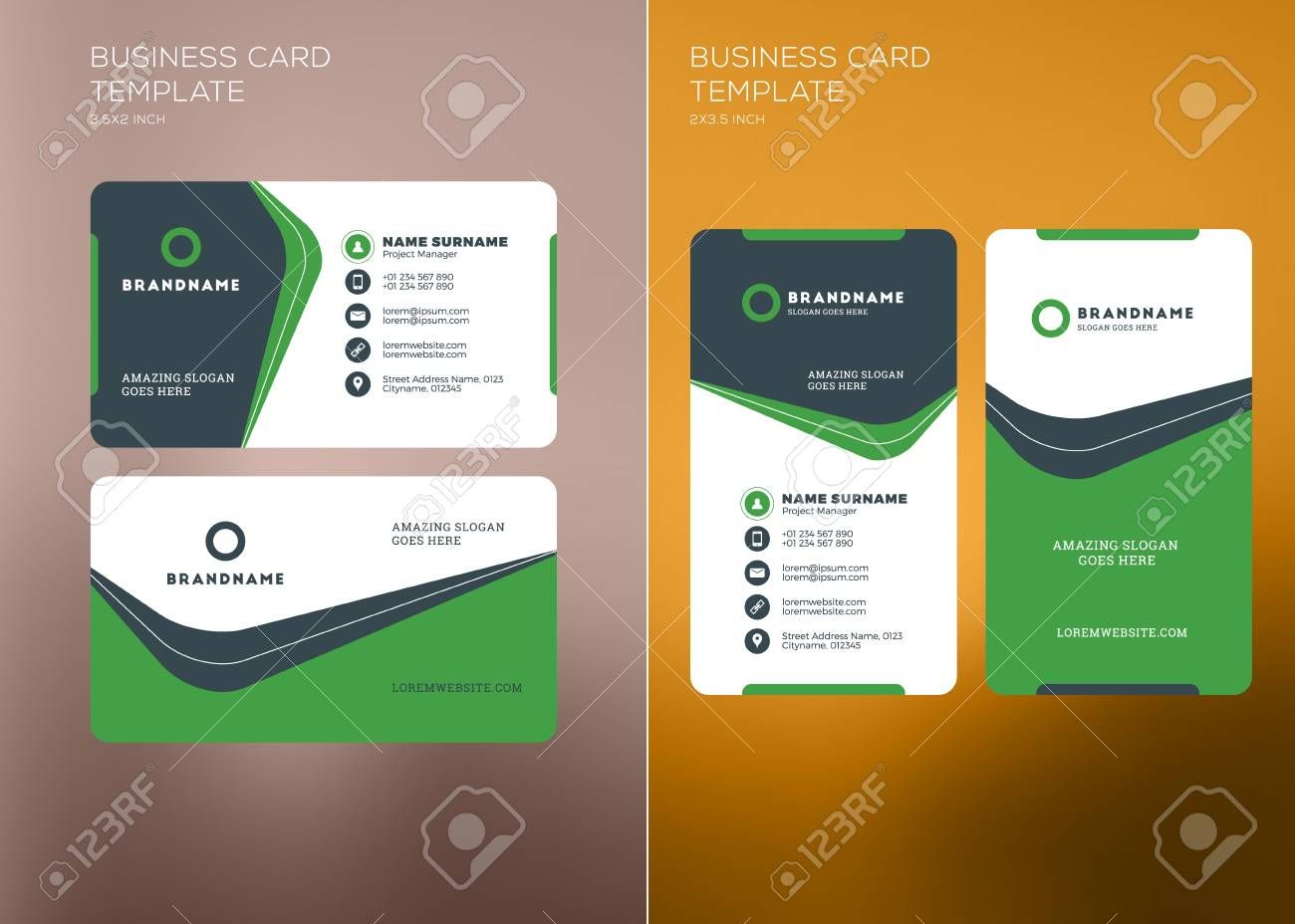 Corporate Business Card Print Template Personal Visiting Card Intended For Company Busin Printing Business Cards Company Business Cards Google Business Card