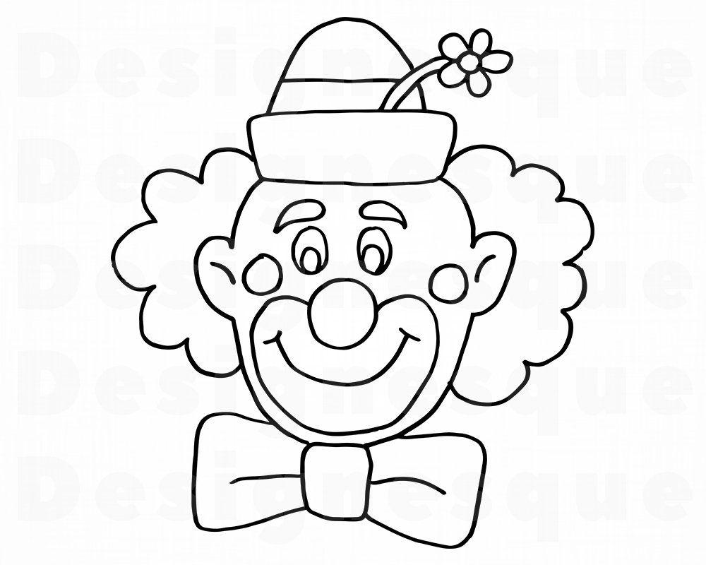 ausmalbilder kostenlos clown gesicht  kinder ausmalbilder