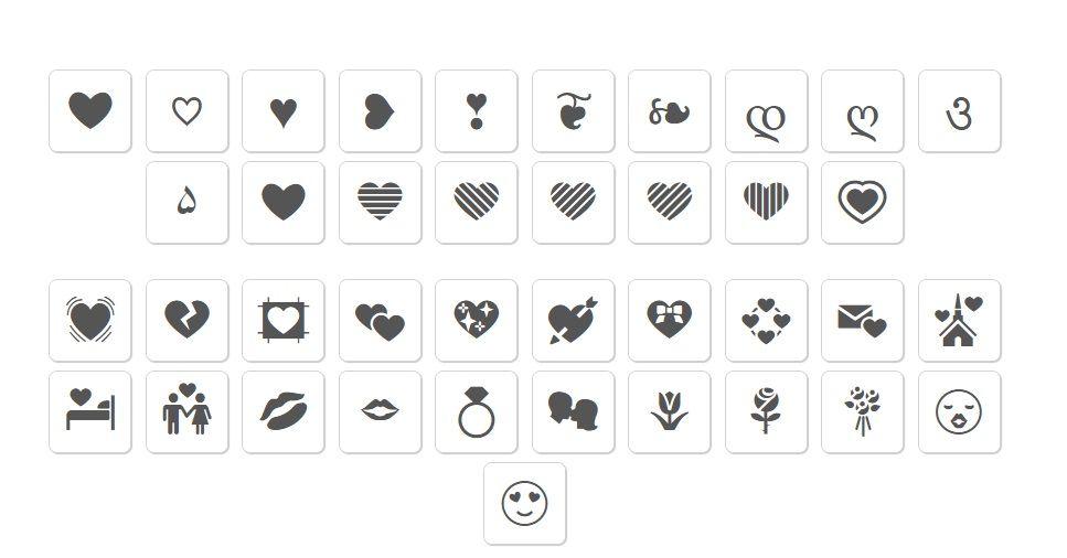 Emoji copy and paste symbols