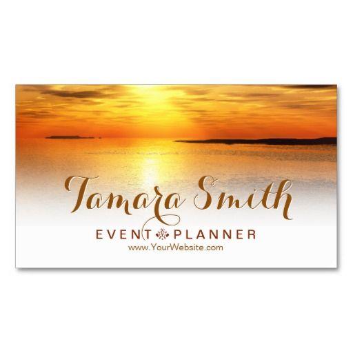 Wonderful Sunsetu0027 Event Planner Business Card Template Business - event card template