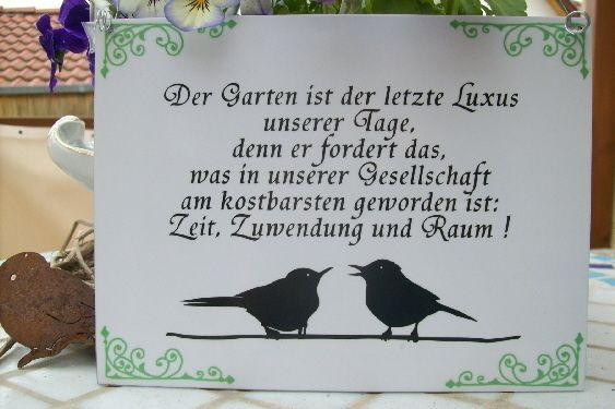 Der Garten ist der letzte Luxus unserer Tage | Sprüche ...