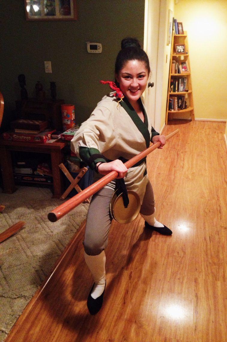 Easy Mulan costume! Disneyu0027s Ping training Costume Greenu2026  sc 1 st  Pinterest & My name is Ping!