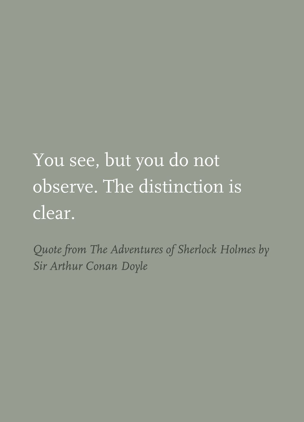Kid Bourbon Quinto Libro Quote From The Adventures Of Sherlock Holmes By Sir Arthur Conan