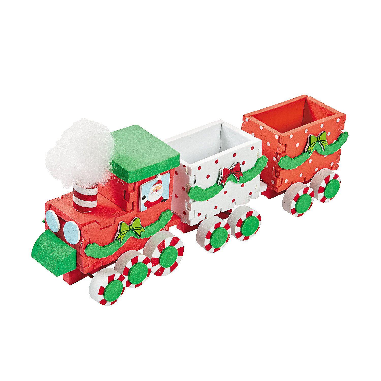 3D Christmas Train Craft Kit - Makes 6 OrientalTrading.com ...