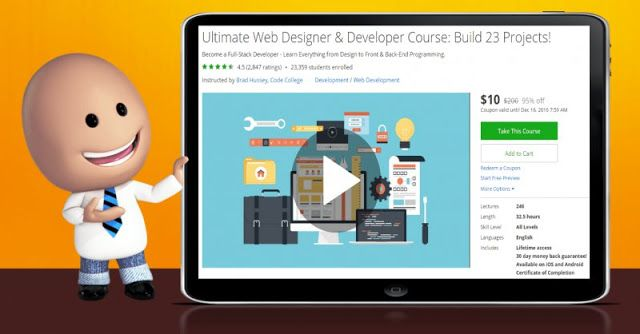 95 Off Ultimate Web Designer Developer Course Build 23 Projects Master Class Web Design Stock Market