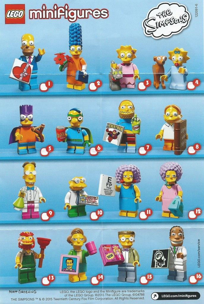 e6fe1ebaa0f A visual guide and checklist for Lego Blind Pack Minifigure Series  1-17  and other sets . From newest to oldest. Updated 9 21.