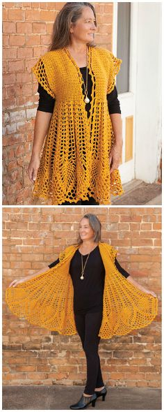 Youll Love This New Pineapple Drop Cardigan Crochet Pattern From