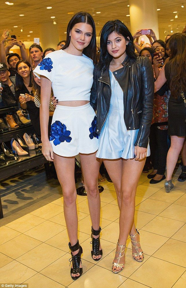 Kendall and kylie jenner wear cute rompers at footwear launch meet greet kendall and kylie jenner met with hundreds of their fans at a promo event for their shoe collection at nordstrom in seattle on saturday m4hsunfo