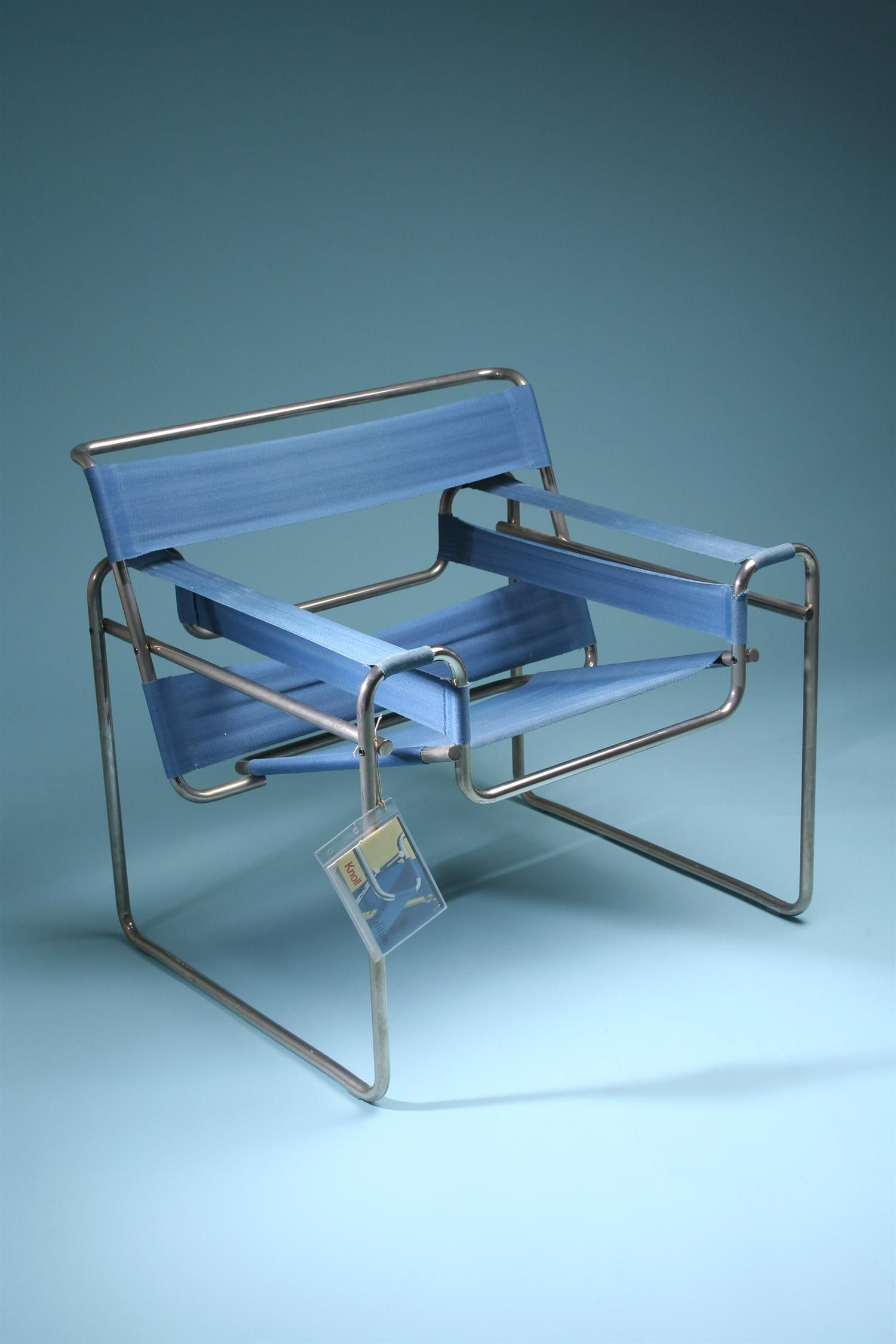 Armchair, Wassily. Designed by Marcel Breuer for Knoll