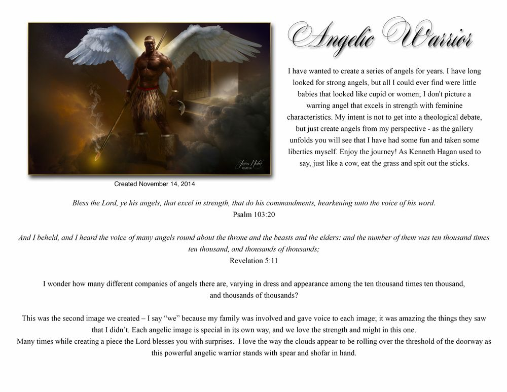 Angelic Warrior Products 3 Prophetic Art Angel Warrior