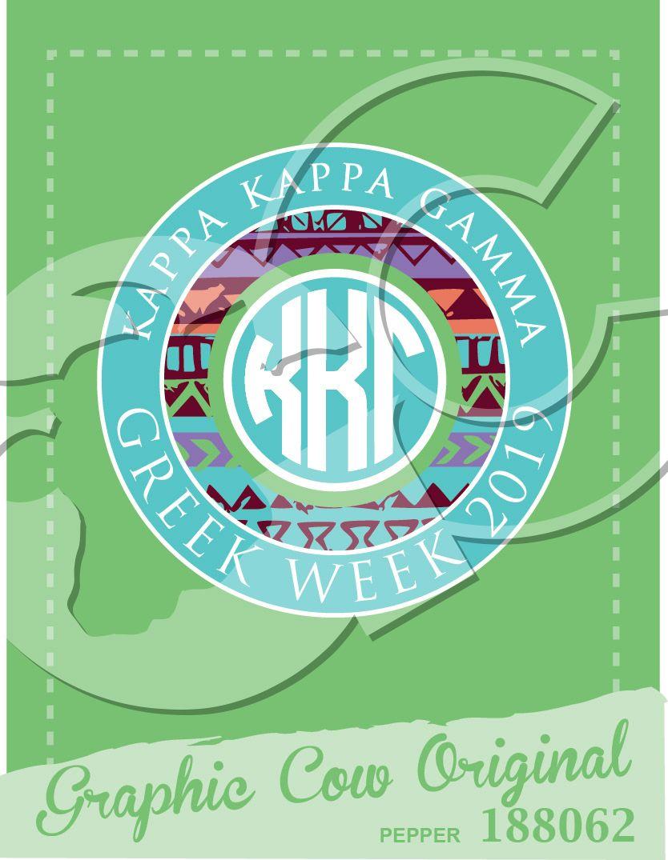 Kappa Kappa Gamma Greek Week tribal circle monogram #grafcow
