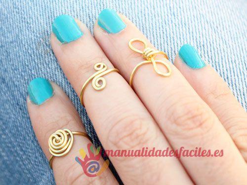Como hacer mini anillos fáciles Anillos, Alambre y Manualidades - manualidades faciles