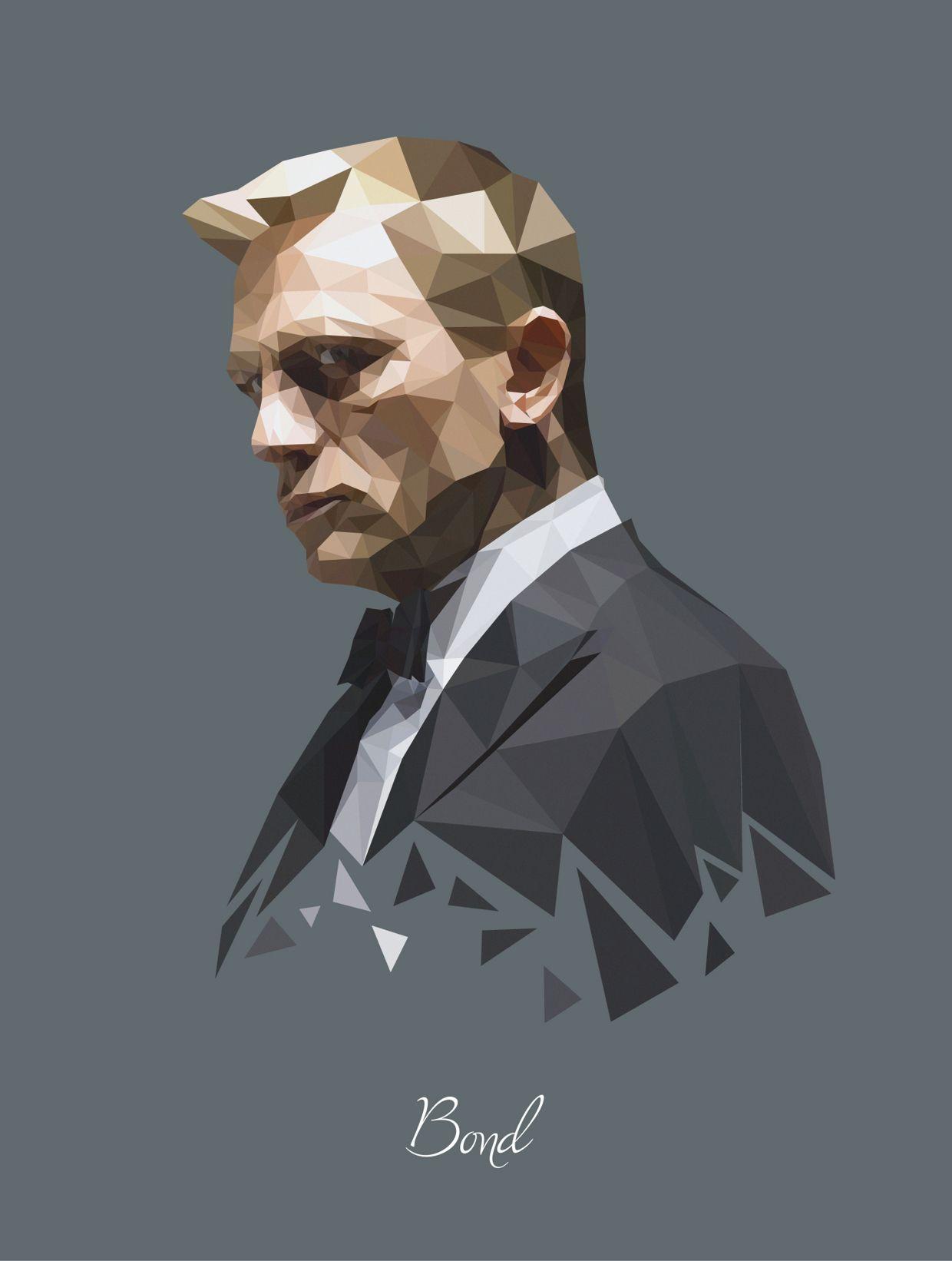 d161af0bd James Bond (Daniel Craig) - Polygon Portrait | ::Illustrations ...