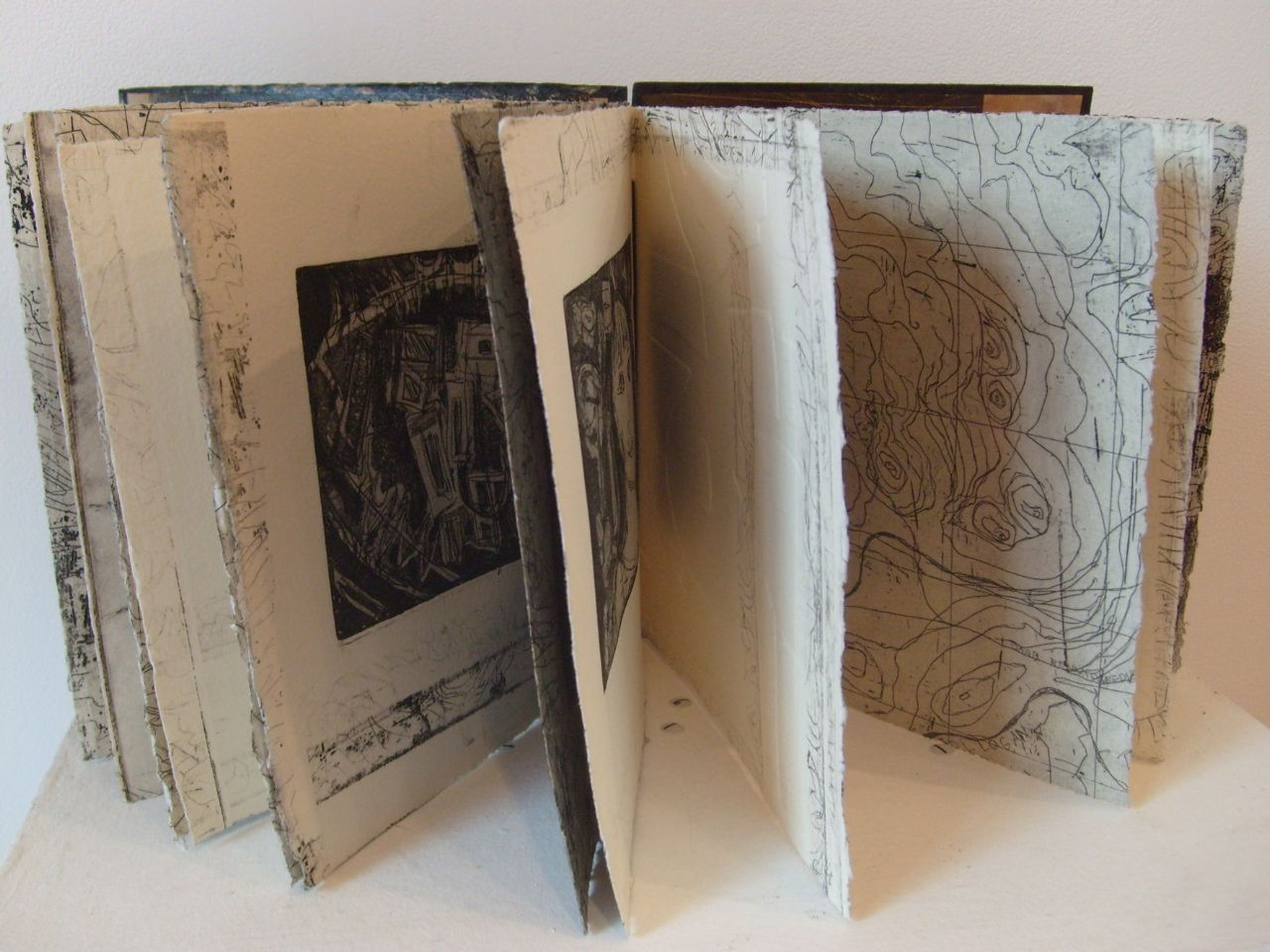 the-great-australian-dream_coptic-bound-artists-book_etching