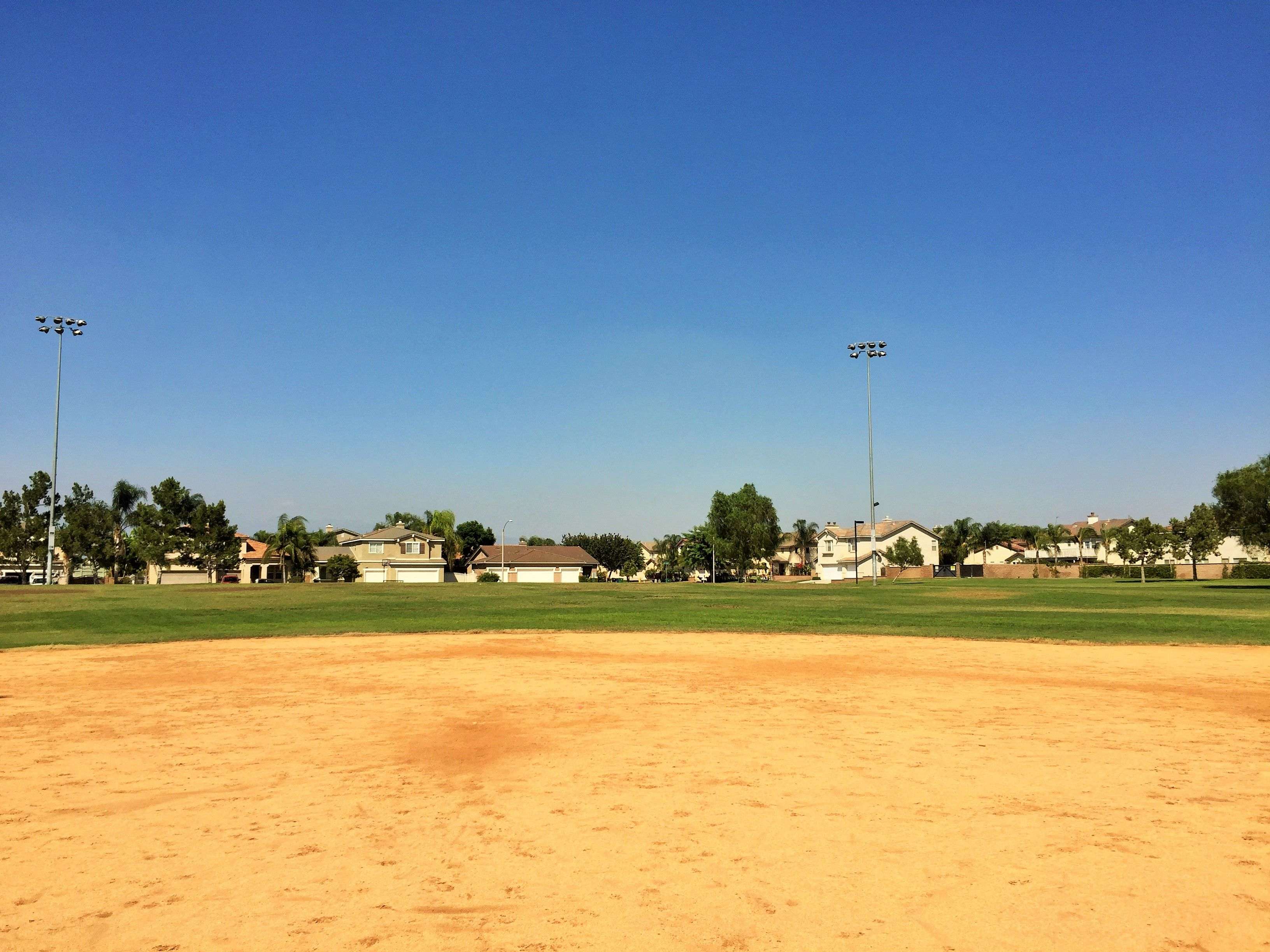 The baseball field located on the left side of Providence Ranch Park in Eastvale, California. http://youreastvalerealtor.com/eastvale-parks/