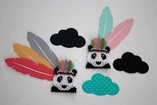 Le joli panda indien de Minimel  version perles par Maaylechic  ? Moi je fonce !! Je n'ai pas pu m'empêcher de modifier un peu le modèle...