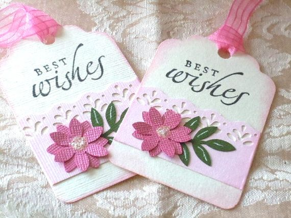 Gift Tags  set of 6   best wishes  Great for Gifts by cardsmiles, $4.50