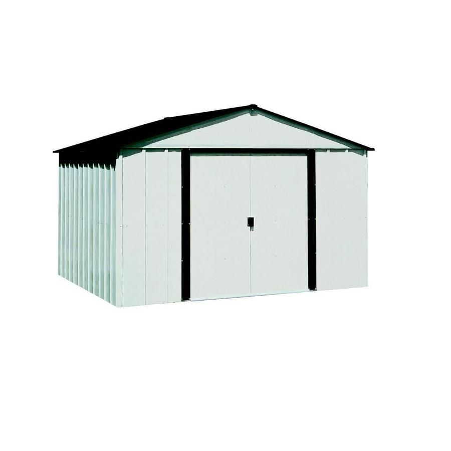Arrow Common 10 Ft X 8 Ft Interior Dimensions 9 85 Ft X 7 5 Ft Galvanized Steel Storage Shed Lowes Com In 2020 Steel Storage Sheds Shed Aluminum Sheds