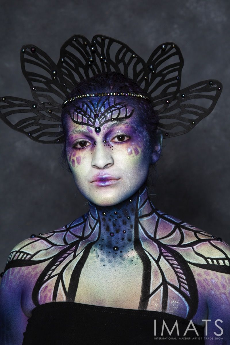 MUA Sarah Contreras for Cinema Makeup School at IMATS LA