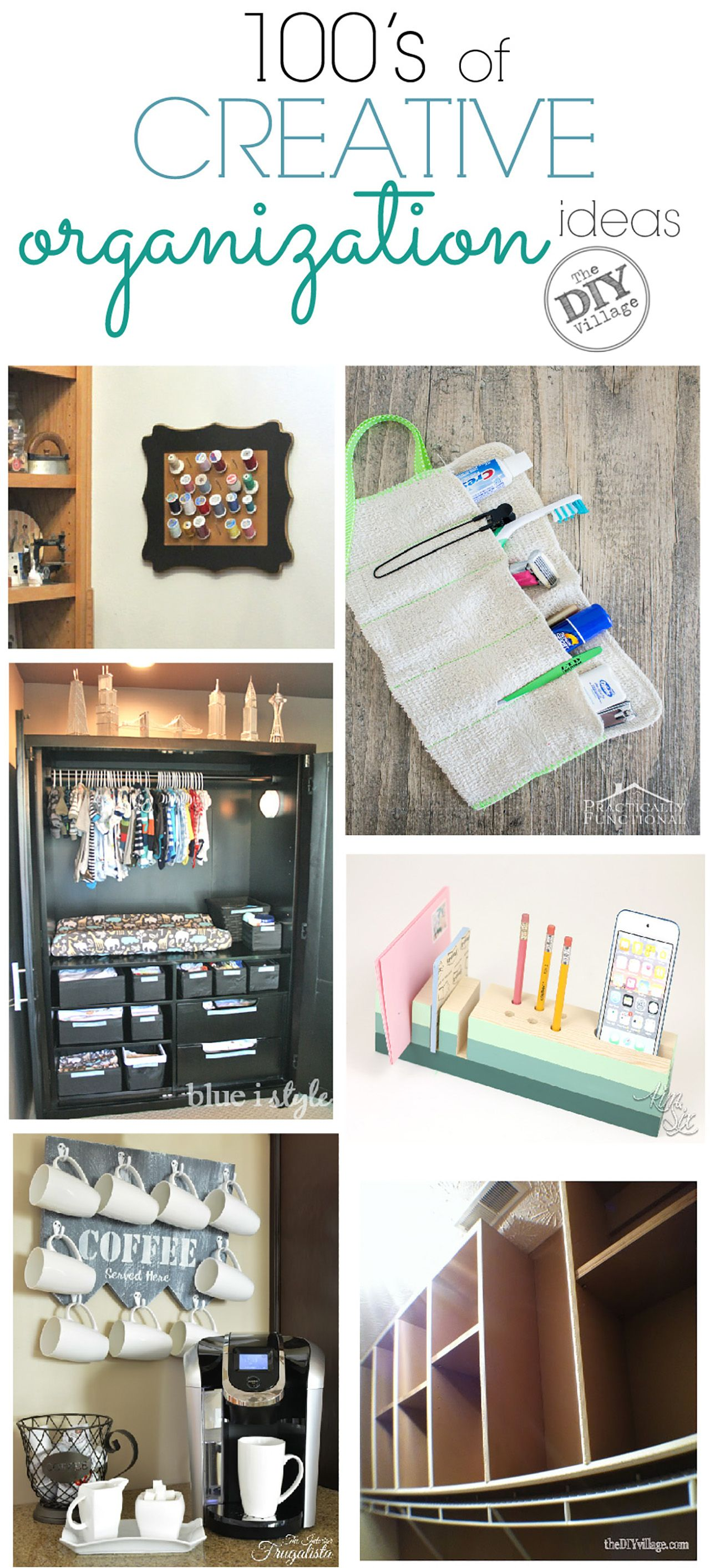 100\'s of Creative Organization Ideas for your Home   Creative ...