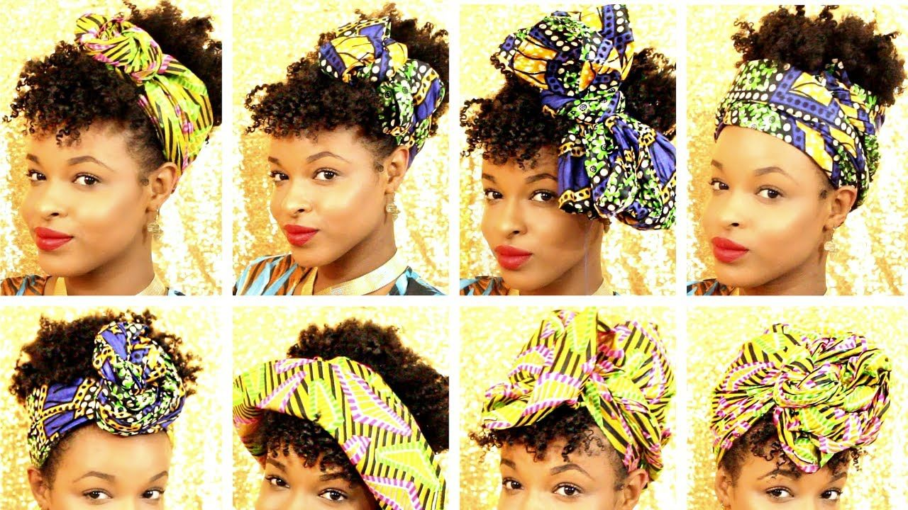 12 Ways To Style Head Wraps And Hats On Short Natural Hair How To Tie Short Natural Hair Styles Headwrap Tutorial African Head Wraps Tutorial