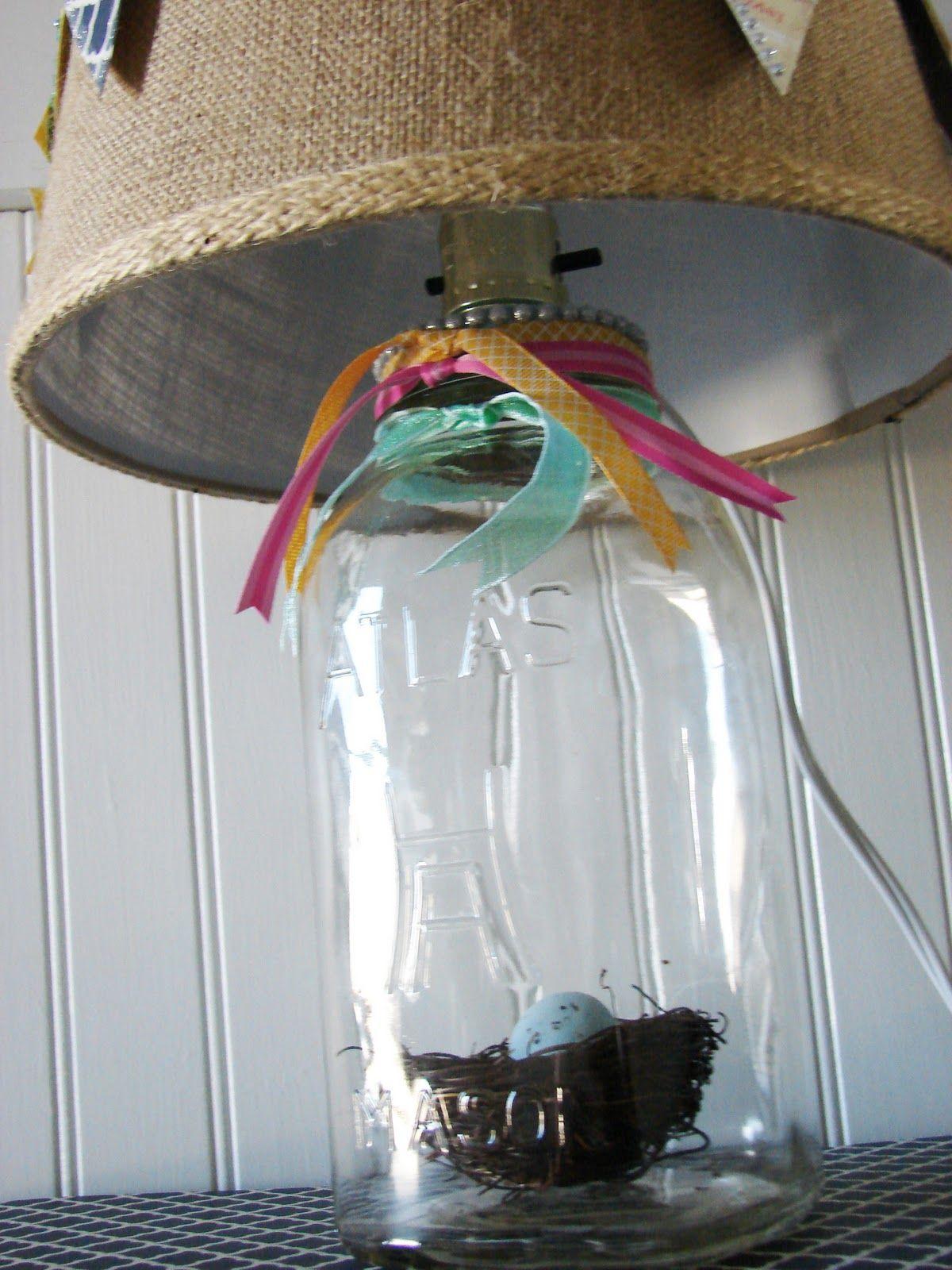 DIY :: How to make a {MASON} JAR LAMP! (SUPER easy!) :: Had her ...