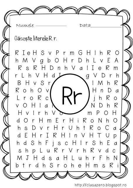 Clasa Pregatitoare Fisa De Lucru Pentru Sunetul Si Litera R Copii