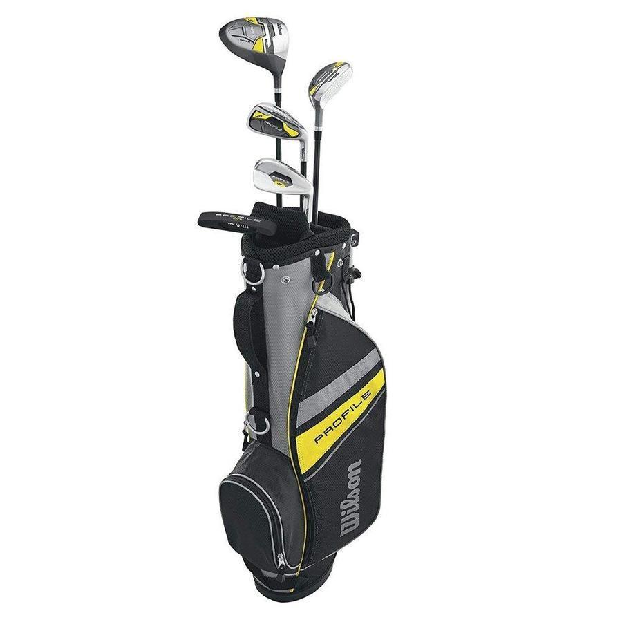 Wilson Profile Complete Junior Medium Right Hand Golf Club Set With Bag Yellow Wggc61200 In 2020 Golf Club Sets Kids Golf Set Golf Bags