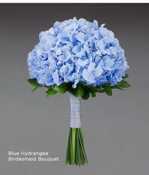Artificial Wedding Bouquets Liverpool : Modern blue hydrangea bridal bouquet from vera wang