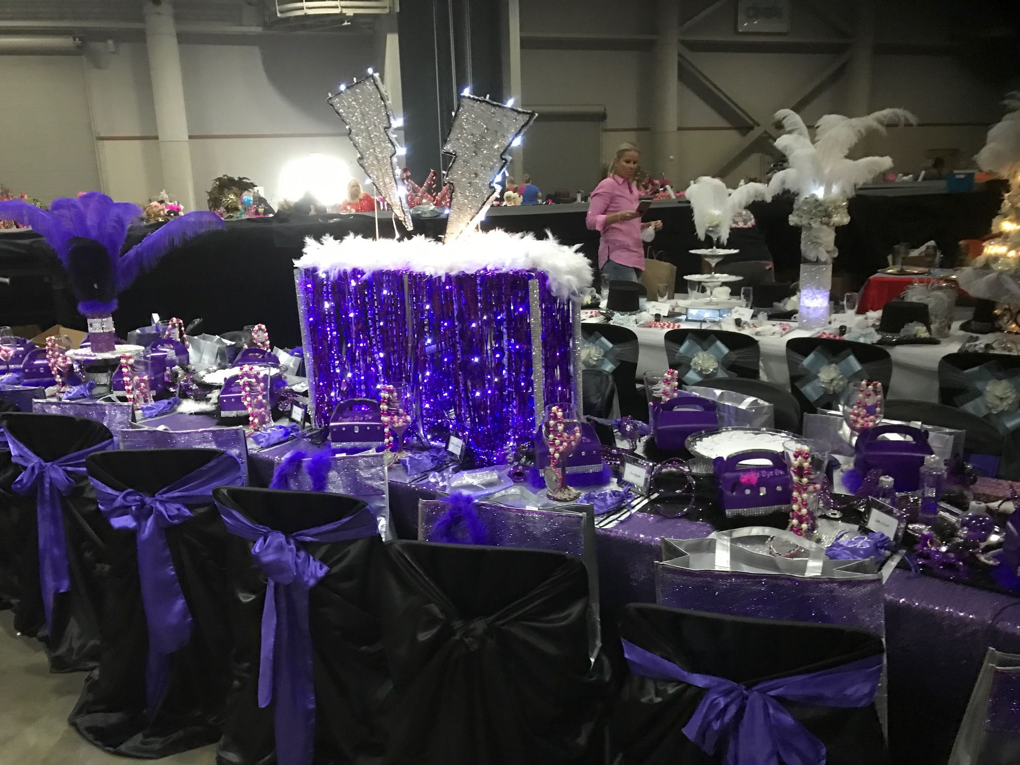 "Mardi Gras Ball Decorations Mardi Gras Ball Table Decor ""crazy Hair"" Theme  Convention Center"