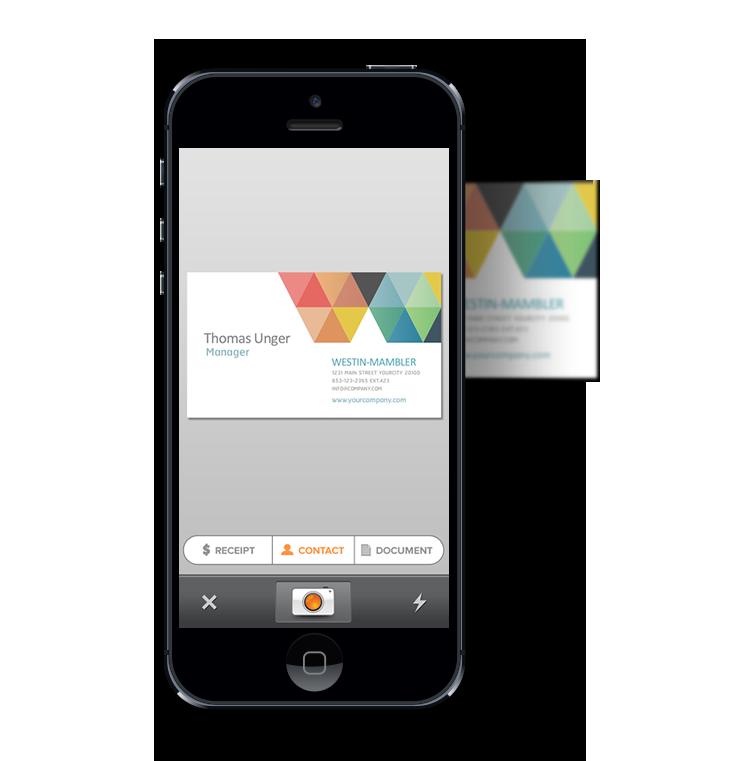 Scan Visitenkarte In Der Kontakte App Mit Scan Visitenkarten