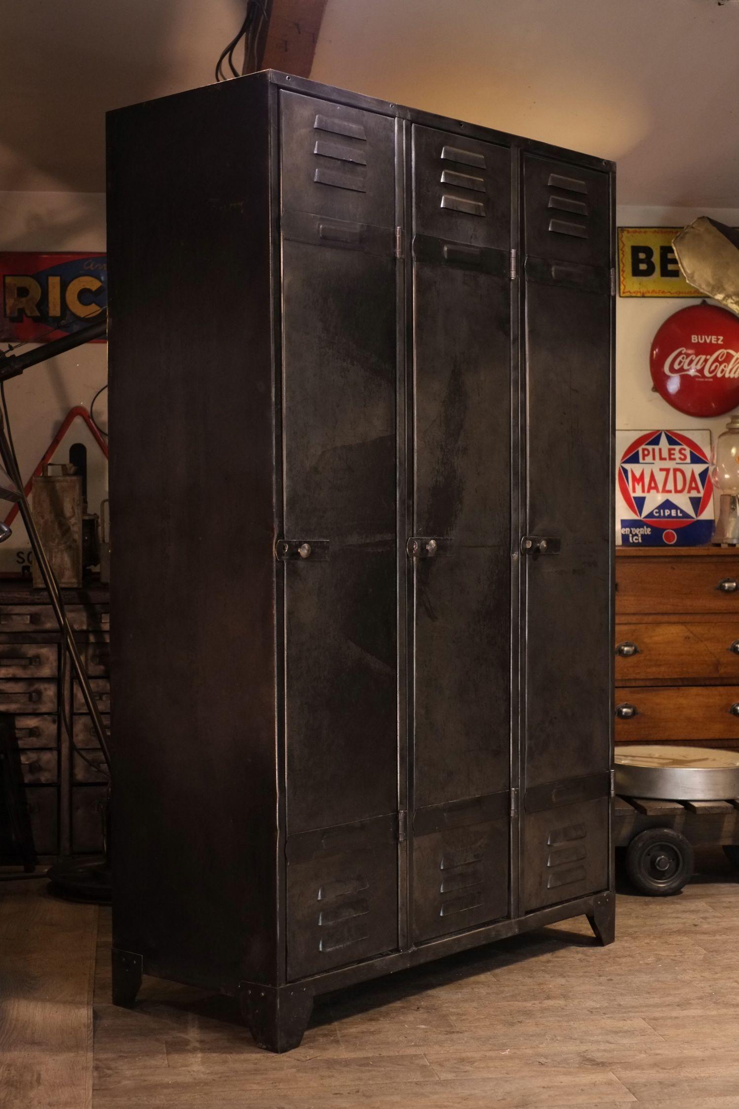 Meuble Industriel Ancien Vestiaire Usine Pour La Maisons