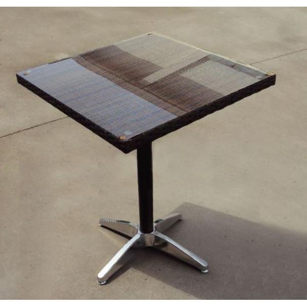 Tavoli in alluminio quadrati intrecciati a mano in polirattan, per ...