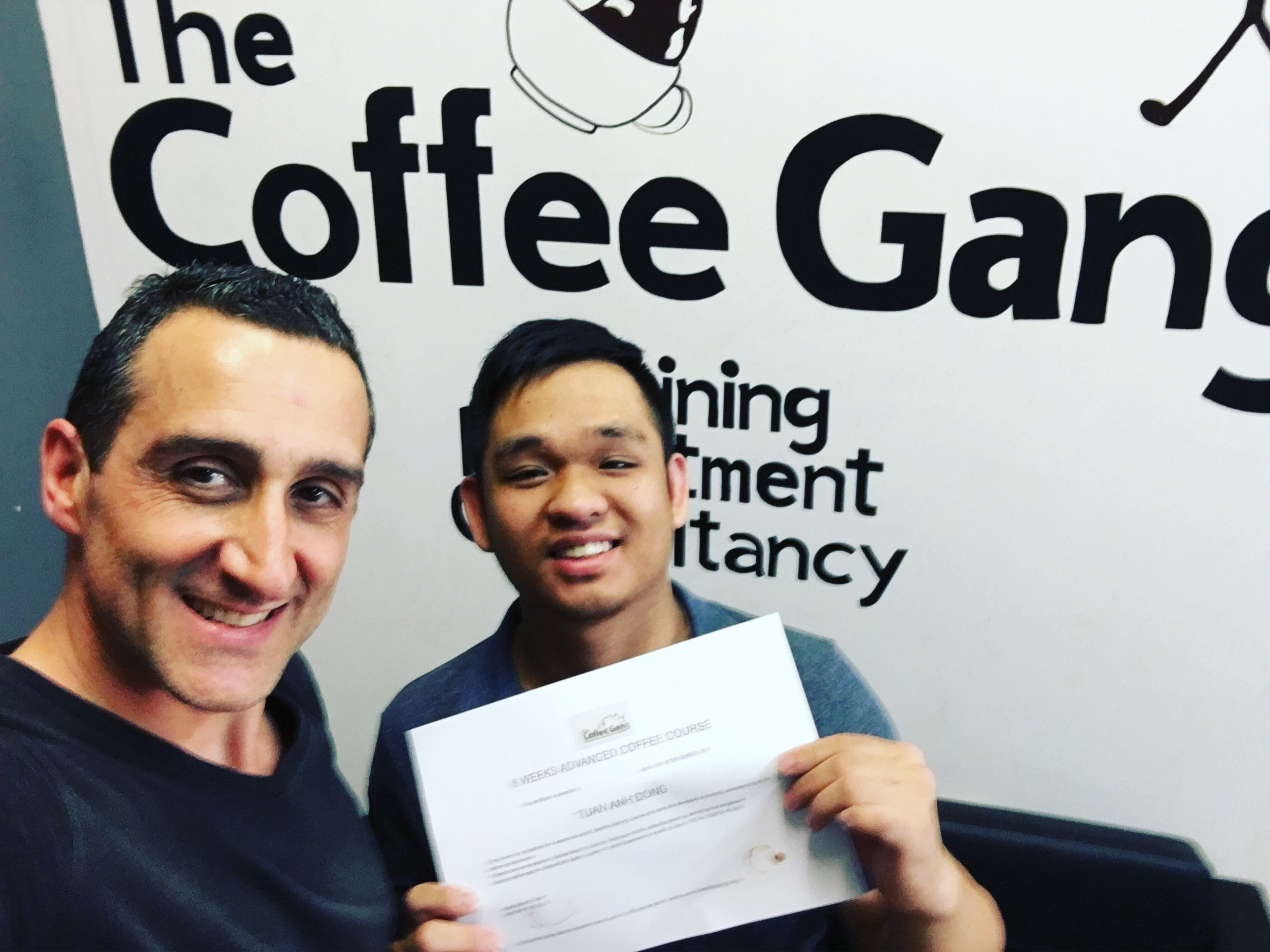 Another champion junior barista tony has just completed