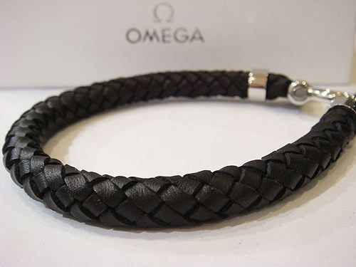 Omega Leather Bracelet