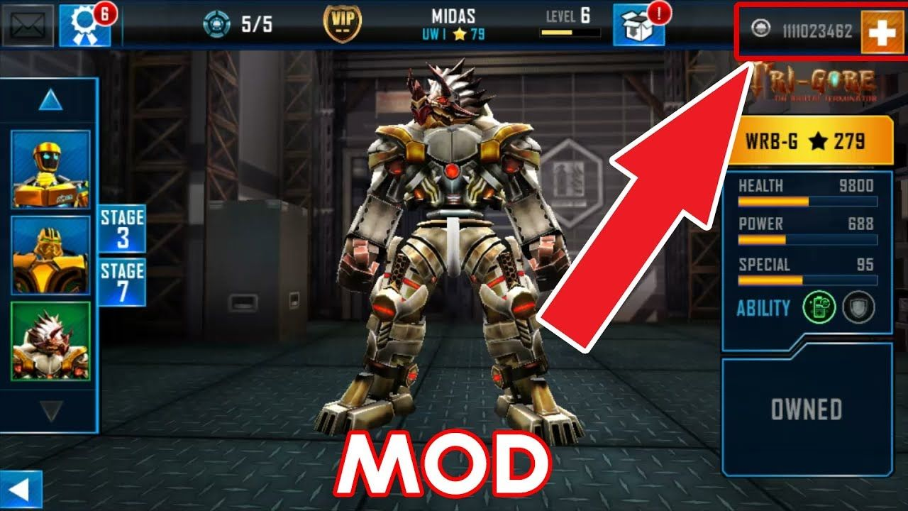 Real Steel World Robot Boxing Mod Unlimited Coins Real Steel