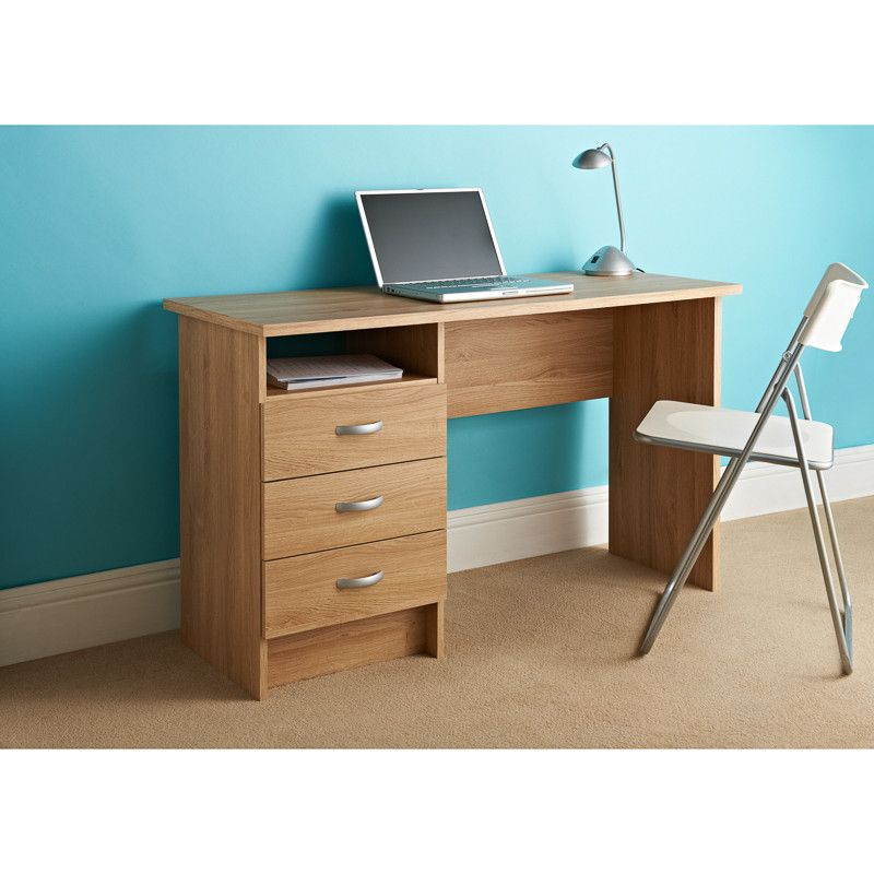 Scandinavian 3 Drawer Desk A Simple Design With An Elegant Finish This Combines