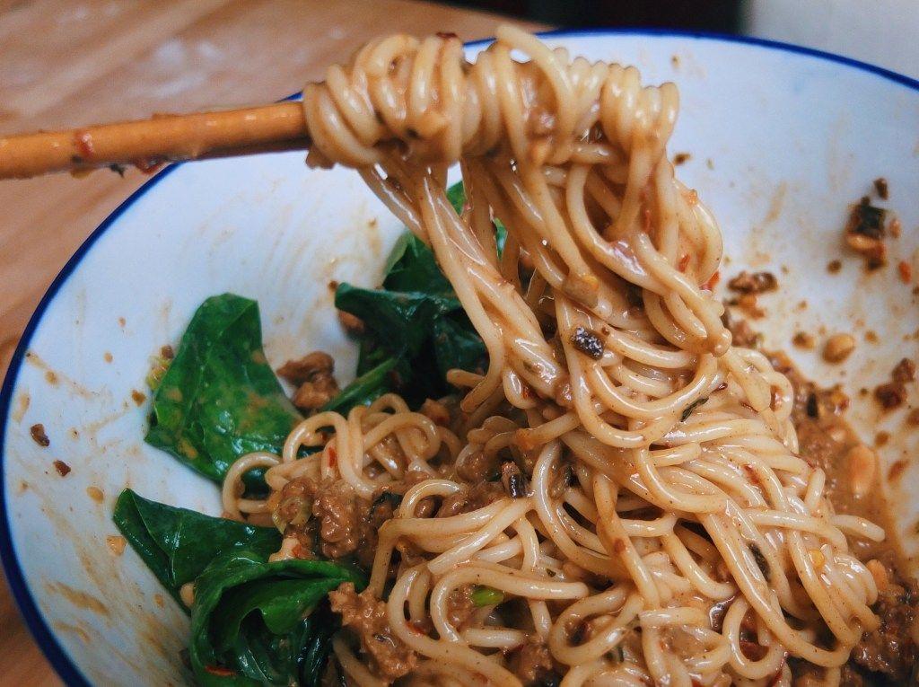 Dandan mian 担担面 noodle dishes hoisin sauce