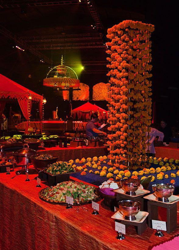 Beautiful Indian Wedding Food Station Wedding Inspiration Fall