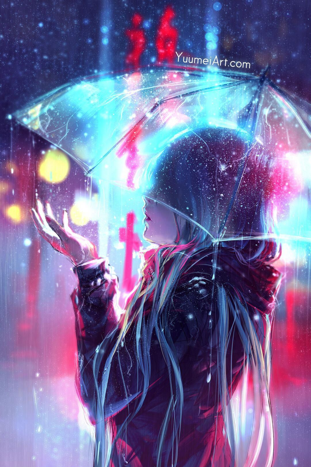 Blurred Lines By Yuumei Wenqing Yanfinally Got Some Time To Draw Between Preparing For Anime Exp Anime Art Girl Cool Anime Wallpapers Anime Scenery Wallpaper