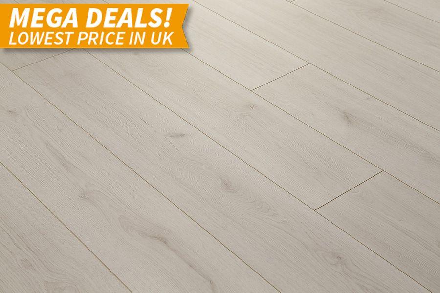 Mega Deal 8mm Trend Oak White Flooring Laminate Flooring Flooring White Laminate Flooring