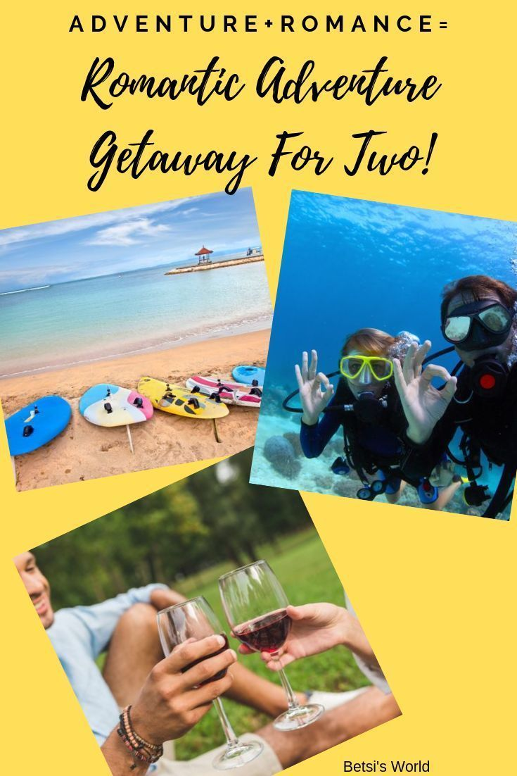 Nothing sparks romance like a romantic adventure getaway! A romantic adventure getaway will bring you closer together, and learning something new together creates a romantic bond. If you are planning a romantic trip for two then make sure you read all about it here! #romantic #adventure #getaway #travel