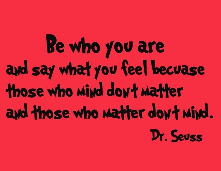Dr Seuss Wall Decals Be Who You Are And Say What You Feel