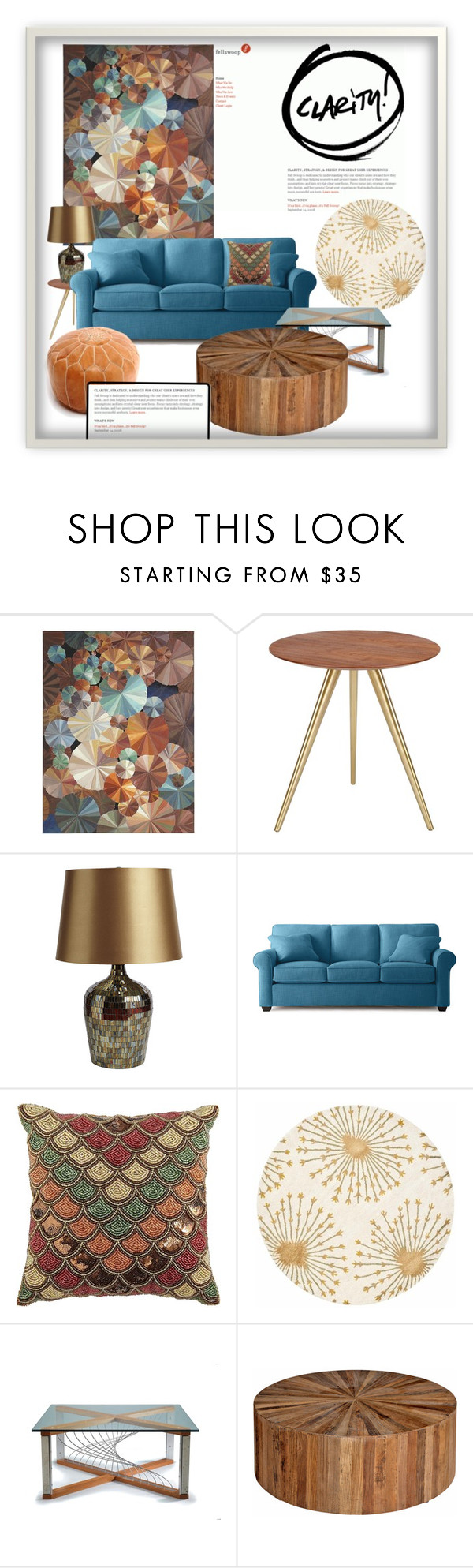 """""""Rounded"""" by jesking ❤ liked on Polyvore featuring interior, interiors, interior design, home, home decor, interior decorating, Pier 1 Imports and Safavieh"""